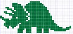 I originally created these Dinosaur knitting charts with the intention of using . I originally created these Dinosaur knitting charts with the intention of using them on a sweater for my husband's cousi. Filet Crochet, C2c Crochet, Tapestry Crochet, Crochet Chart, Crochet Baby, Cross Stitch Charts, Cross Stitch Embroidery, Embroidery Patterns, Cross Stitch Patterns