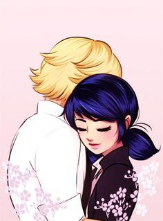 oh!..que casal mais fofo e lindo gente, Marinette abraçando o Adrien :)