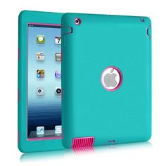 Top Quality Anti-Knock Shockproof Screen Protective 2 in 1 PC + Silicon Case for iPad4 iPad3 iPad2 Fashion Cover for iPad 4 3 2