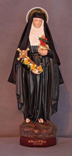 "St. Margaret Mary Alacoque 18"" Catholic Christian Plaster Religious Statue"