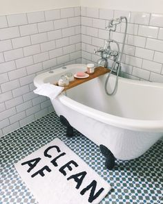 """6,858 Likes, 40 Comments - Urban Outfitters Europe (@urbanoutfitterseu) on Instagram: """"So fresh, so clean. The Clean AF bathroom mat is now £12/€19 in the sale! : 5544436280005 Shop…"""""""