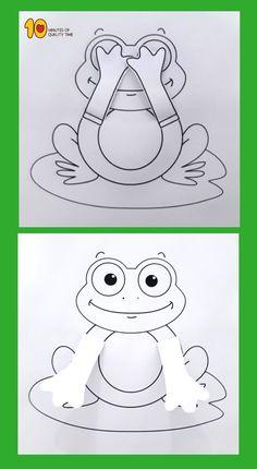 Peekaboo Frosch druckbare Handwerk - DIY and crafts Frog Crafts Preschool, Frog Activities, Kids Crafts, Arts And Crafts, Free Preschool, Preschool Printables, Preschool Kindergarten, Kids Diy, Decor Crafts