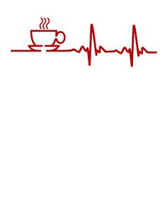 Morning Coffee Heartbeat EKG by TheShirtYurt