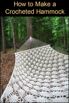 Gather up some cords and learn how to make your own hammock!