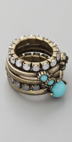 Adia Kibur Multi Stone Stackable Ring Set