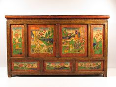 Absolutely stunning and completely unique! 19th Century Antique Tibetan Altar with heavy Chinese influences