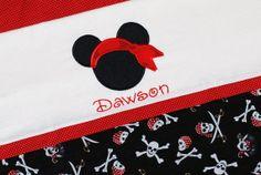 Boys personalized pirate  mickey Mouse pillowcase  Disney