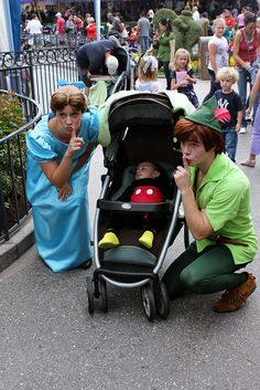 What a cool photo for the parents! i would have kept up with the peter pan theme as the baby being a lost boy maybe