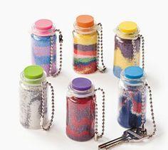 mini sand bottle art