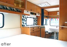 I am swooning over this camper.  I have dreams of the family vaca / tour in one of these.