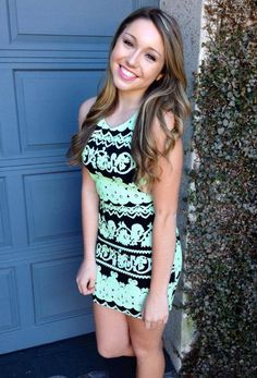 Piece of Cake Dress in Lime $49 http://www.fabfindsboutique.com