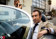 Jean Dujardin for GQ February 2012 issue, photo by Carter Smith 1950s Jacket Mens, Cargo Jacket Mens, Green Cargo Jacket, Grey Bomber Jacket, Leather Jacket, Plaid Jacket, Jean Dujardin, Carter Smith, Khaki Parka