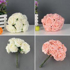 Bonito charme 10 de bonito bonito Artificial Rose flor noiva Bouquet decoração 2 cores em Flores & coroas decorativas de Casa & jardim no AliExpress.com | Alibaba Group