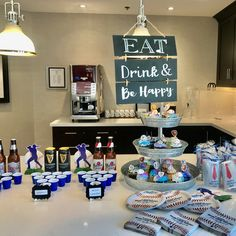 """As the sign says, """"Eat, Drink & Be Happy"""" - That's what we strive for at White Cliffe Terrace Retirement Residence in Courtice.  Happy Father's Day to everyone! 😊 #vervecares #community #fathersday #celebration #goodtimes Senior Living Communities, Wellness Activities, Durham Region, Assisted Living, Happy Fathers Day, Food Preparation, Retirement, Terrace, Celebration"""