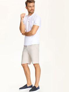 T-shirt męski Top Secret z kolekcji wiosna-lato 2016 Top Secret, Bermuda Shorts, Polo, Mens Tops, T Shirt, Shopping, Fashion, Supreme T Shirt, Moda
