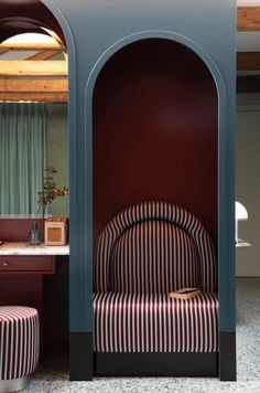 French interior designer Dorothee Meilichzon was inspired by signature design hallmarks of Venice for the interiors of Il Palazzo Experimental hotel. Design Hotel, Restaurant Design, Design Suites, Restaurant Bar, French Interior, Home Interior, Bohemian Interior, Modern Interior, Commercial Design