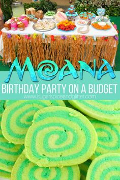 This Low-stress Moana Birthday Party is Budget-friendly and Cute! Everything you need for planning your child's Moana Birthday Party on a budget, from Moana party food, Moana activities and games, to low-cost tropical decor, we've got you covered Moana Birthday Party Theme, Luau Birthday, Disney Birthday, Luau Party, 4th Birthday Parties, Birthday Games, Beach Party, Disney Themed Party, Moana Birthday Decorations