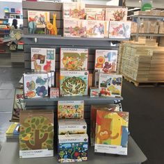 A full display of Petit Collage product at Flax Art in San Francisco