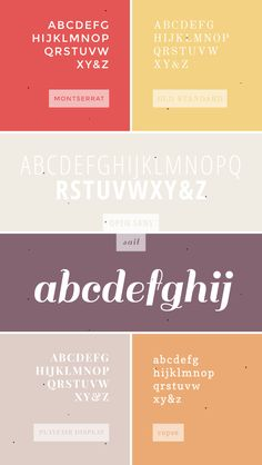 More favorite web fonts.