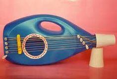 Ideas para hacer guitarra de juguete con garrafa  de suavizante