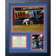 Legends Never Die Nolan Ryan 300th Win Framed Photo Collage, 11 inch x 14 inch