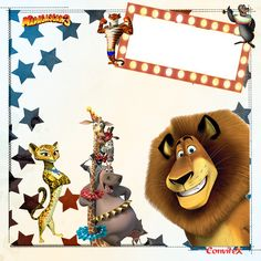 Madagascar 3, Dreamworks Movies, Dreamworks Animation, Happy Birthday Baby, 3rd Birthday Parties, Circus Party, Movie Collection, Party Invitations, Scrapbooking
