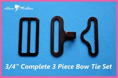 or 50 sets of Bow Tie Hardware Sets 20 Necktie Hook Bow Tie 10