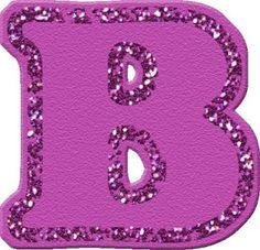 letras para imprimir con purpurina