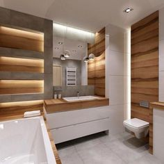 Bathroom Tile: 60 Inspirations to See Before Choosing Your Bathroom - Home Fashion Trend Wet Room Bathroom, Modern Bathroom Tile, Bathroom Design Luxury, Bathroom Design Small, Contemporary Bathrooms, Bathroom Assessories, Bad Styling, Bathroom Styling, House Design