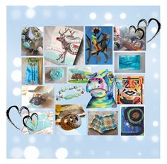 """Celebrate Handmade"" by artbymarionette ❤ liked on Polyvore featuring art, handmade, integrityTT, EtsySpecialT and itemchallenge4"