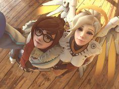Mei and Mercy Selfie by Rocner.deviantart.com on @DeviantArt