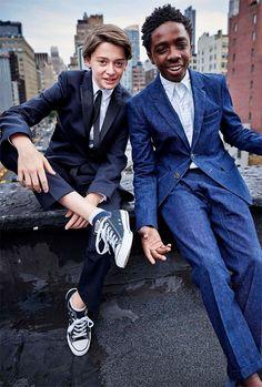 Noah Schnapp & Caleb McLaughlin photographed for Esquire Magazine