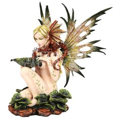 Nature Fairy and Dragon Statue