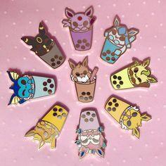 Eeveelution w/ Boba pins Pokemon Pins, Pokemon Eevee, Foto Do Goku, Bag Pins, Cute Pokemon Wallpaper, Kawaii Accessories, Anime Merchandise, Cool Pins, Pin And Patches