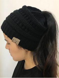 Wool Knitted Winter Caps Warm Hats For Women Cotton Crochet Female Beanies Gorros Baggy Ponytail Hat Skullies Bonnet Femme Warm Winter Hats, Winter Hats For Women, Winter Caps, Beanie Hats For Women, Cc Hats, Cute Beanies, Ponytail Beanie, Bonnet Hat, Knit Beanie
