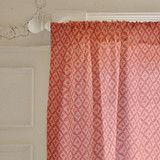 """Southwest"" - Curtains in Peach by Hooray Creative."