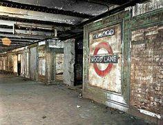Abandoned Tube Station-Wood Lane near Shepherds Bush, West London. Abandoned Buildings, Old Buildings, Abandoned Places In London, Abandoned Train, Derelict Places, Abandoned Mansions, Level Design, Shepherds Bush, Old London
