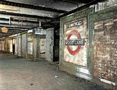 Abandoned Tube Station-Wood Lane near Shepherds Bush, West London.