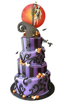 Wouldnt have to be a Halloween wedding for Kyle and I. I would do a purple and black theme Nightmare Before Christmas anytime!