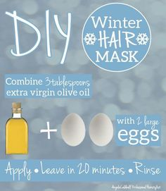 DIY Winter Hair Mask for Dry and Frizzy Hair