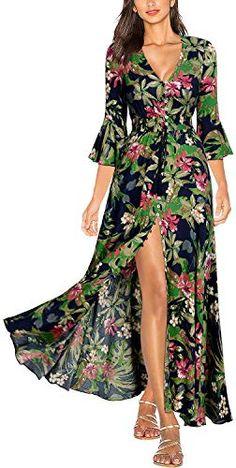 2019 Women Summer Sexy Bohemian Beach Dresses Korean Casual Print Party Long Dress Clear-Cut Texture Women's Clothing