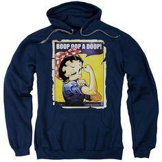 Black Hooded Sweatshirt, Hooded Sweatshirts, Hoodies, Retro Fan, Muscle Power, Rosie The Riveter, S Man, Navy Pink, Betty Boop