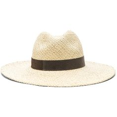 Janessa Leone Ana Wide Brimmed Panama Hat (3.989.675 IDR) ❤ liked on Polyvore featuring accessories, hats, band hats, brimmed hat, panama straw hat, brim straw hat and straw hat
