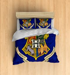 House Teams Bedding Set- Inspired by Harry Potter, Hogwarts, Ravenclaw, Slytherin, Gryffindor, Huffelpuff by DesignyLand on Etsy https://www.etsy.com/listing/268391199/house-teams-bedding-set-inspired-by