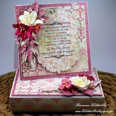 Scrap Shop: Z bukietem kwiatów na ślub