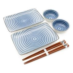 Ceramic Dining Set ($31) ❤ liked on Polyvore featuring home, kitchen & dining and japanese chopsticks