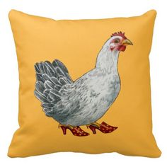 Chicken Pillow (yellow) Design by WDeWitt.