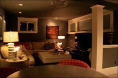 cozy finished basement