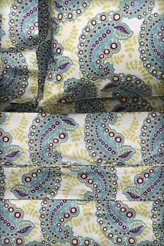 Paisley Foliage Sheet Set #anthropologie