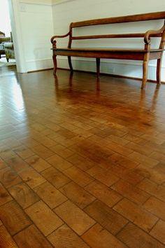 Belgium Block Oak, Running Bond End Grain Block floors